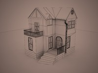 3d model small house
