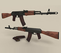 weapon kalashnikov ak-74 assault rifle max