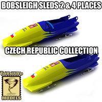 3d bobsleigh sled - czech model