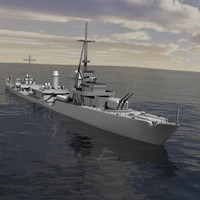 3d model german destroyer