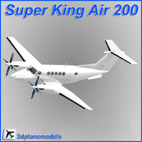Beechcraft Super King Air B200 Generic white