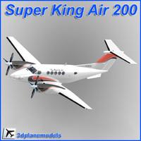 3d model beechcraft super king air