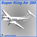 beechcraft super king air 200 3D models