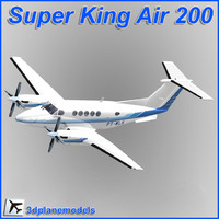Beechcraft Super King Air B200 Private livery 3