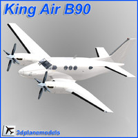 beechcraft c90 king air 3d max