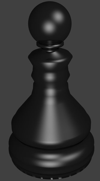 3d model of chess pawn