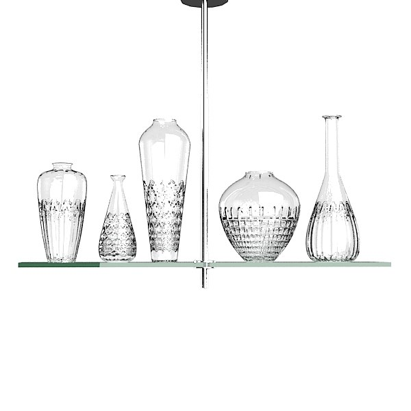 Philippe Starck Cicatrices De Luxe Five Light Chandelier by Flos.jpg