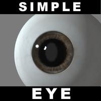 free simple eye iris 3d model