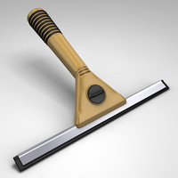 3d model squeegee window wiper