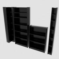 bookshelf cd shelf 3d model