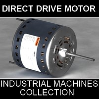 3d model direct drive blower motor