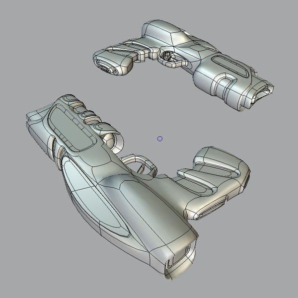3d model scifi guns - GX SET .blend... by sender pinarci