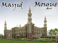 great mosque 3d model masjid.zip