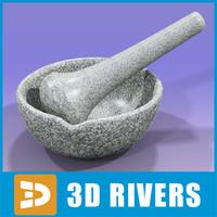 3d mortar pestle