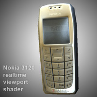 Nokia 3120 low-poly