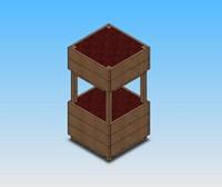 3d model planter box