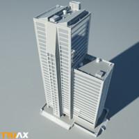 studio modern high-rise 3d max