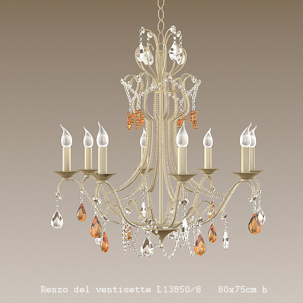 renzo del ventisette classic strass crystal chandelier