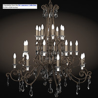 savoy house dining chandelier 1-3005-20-8 st laurence