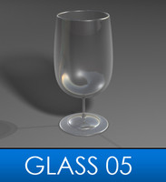 3d elegant wine glass