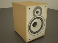 3d model speakers audio