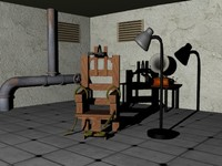 electric chair 3d max