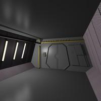 airlock scifi interior 3d max