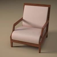 armchair armchair5 3d 3ds