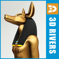 gods anubis 3d model