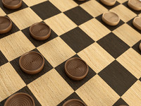 maya checkers set wood