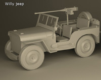 3d model willy jeep