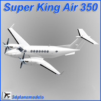 Beechcraft Super King Air B350 Generic white