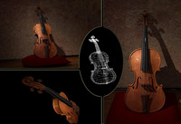3d photorealistic violin model