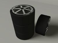 3d model racing tires