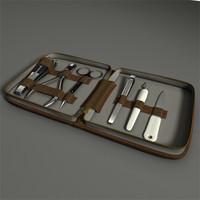 manicure set 3d model
