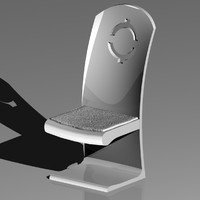 3ds max modern chair dinning