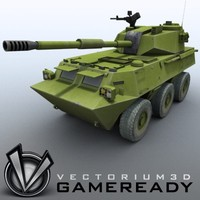 Game Ready - PTL02 100mm Wheeled Assault Gun 02