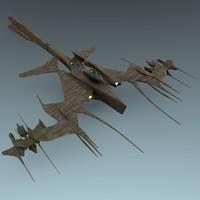 alien hybrid gunship blend