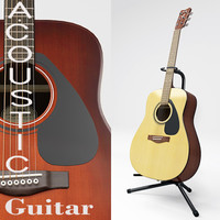 Acoustic Guitar and Guitar stand