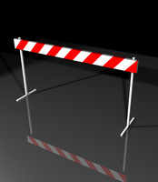 3d model traffic barrier