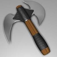 battle ax 3d max
