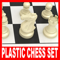 maya plastic chess pieces set