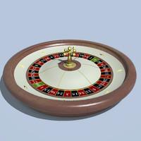 3d model american roulette wheel zeros