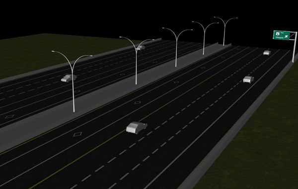 3d model highway cross section - Highway Cross Section... by GFX_Artist