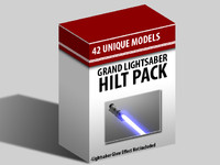 3d pack light saber model
