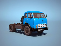 3d model truck ussr low-poly