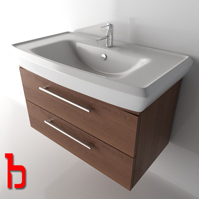 Corner Wash Basin With Cupboard : Modern Wash Basin With Cabinet Wash Basin Cabinet 3d Max