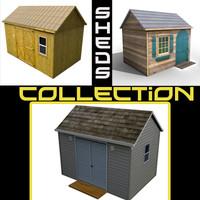 3d house sheds model