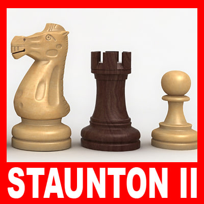 staunton chess pieces set ma - Chess Pieces (Staunton Set II)... by twopixels