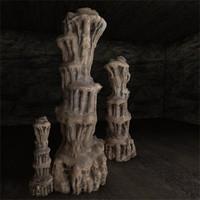 limestone stalagmite 3d model